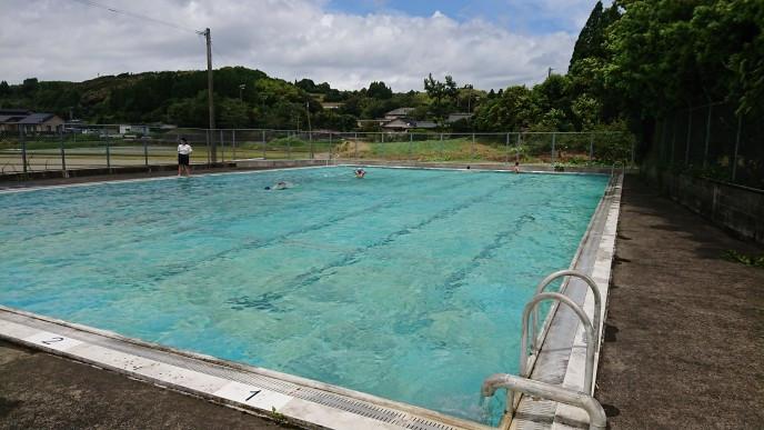 水泳の授業です。